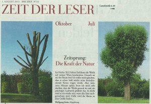 Die Kraft der Natur – Leserbrief ZEIT
