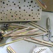 Baumaterialien für ein Insektenhotel