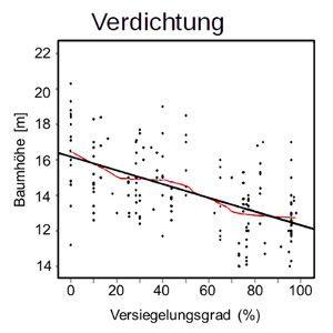 Einfluss der Bodenverformung auf das Baumwachstum