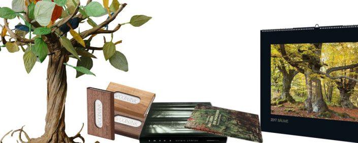 Verschiedene Geschenke mit speziellem grünem Touch