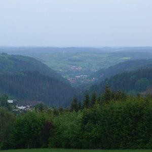 Langes steiles Teil, dicht mit Wälder bewachsen.