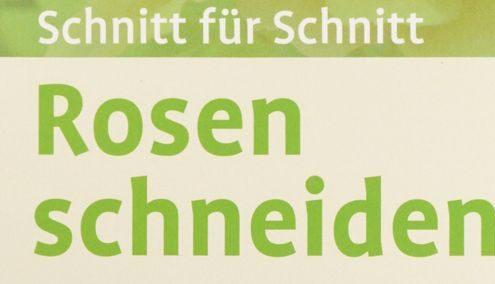 """Titel des Buches: """"Schnitt für Schnitt - Rosen schneiden"""" von Heiko Hübscher"""