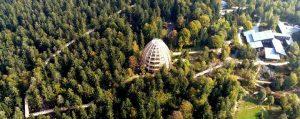 Luftansicht des Baumwipfelpfad im Bayerischen Wald
