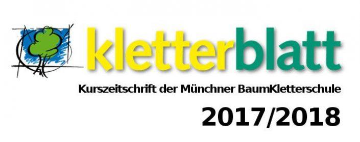 Druckfrisch und Online: Kletterblatt 2017/18