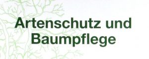 Buchcover: Artenschutz und Baumpflege
