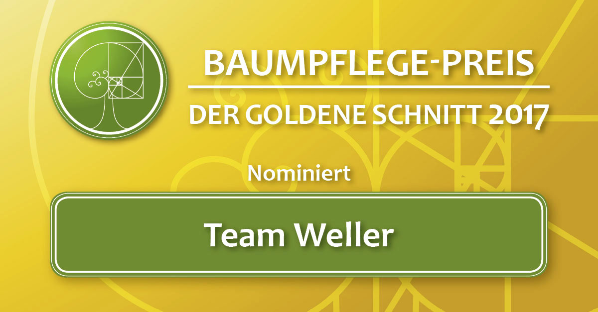der goldene schnitt 2017 nominiert team weller baumpflegeportal. Black Bedroom Furniture Sets. Home Design Ideas