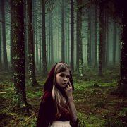 Rotkäppchen im Fichtenwald