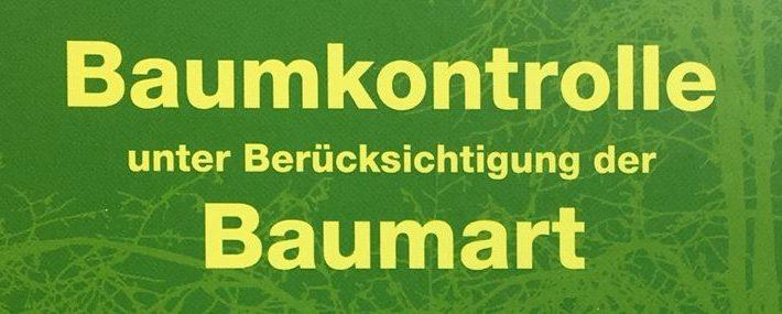 """Buchtitel zu """" Baumkontrolle unter Berücksichtigung der Baumart"""""""