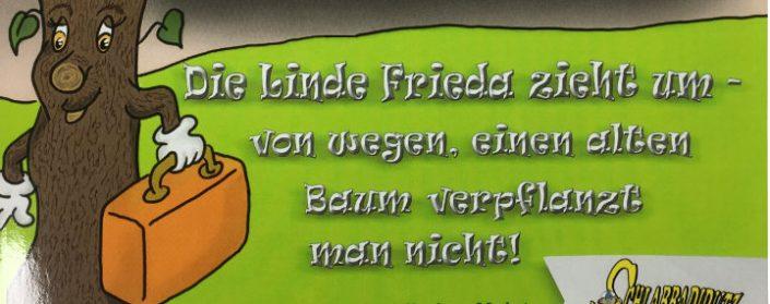 """Buchtitel zu """"Die Linde Frieda zieht um"""" von Monika Stahlheber-Meister"""