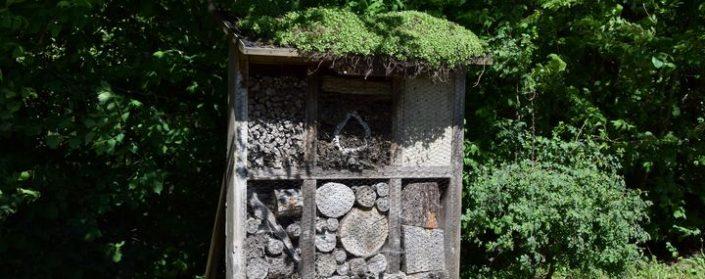 Großes Insektenhotel am Waldrand