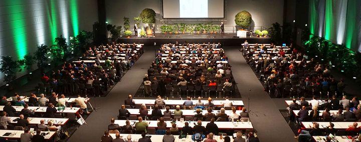Großer Veranstaltungssal für Vorträge der Deutschen Baumpflegetage